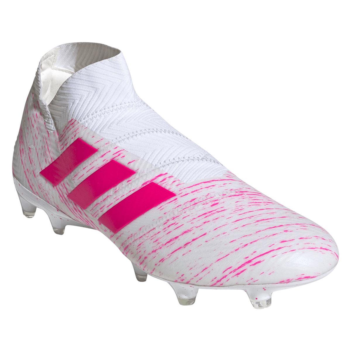 adidas Fußballschuh Nemeziz 18+ FG weißpink