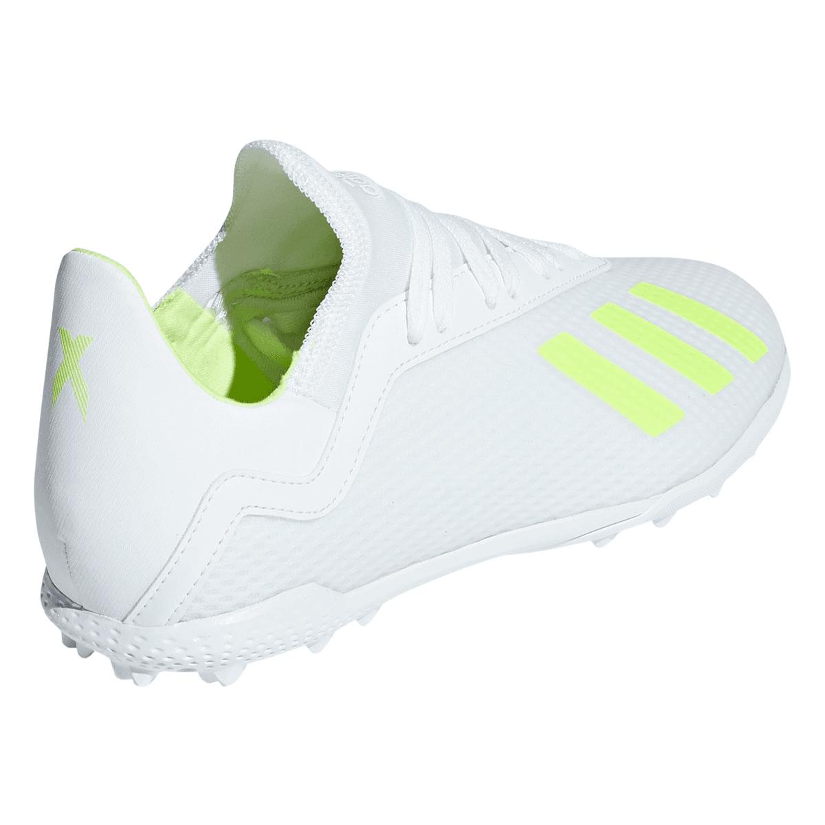 adidas Kinder Fußballschuh X 18.3 TF J Kunstrasen weißgelb fluo