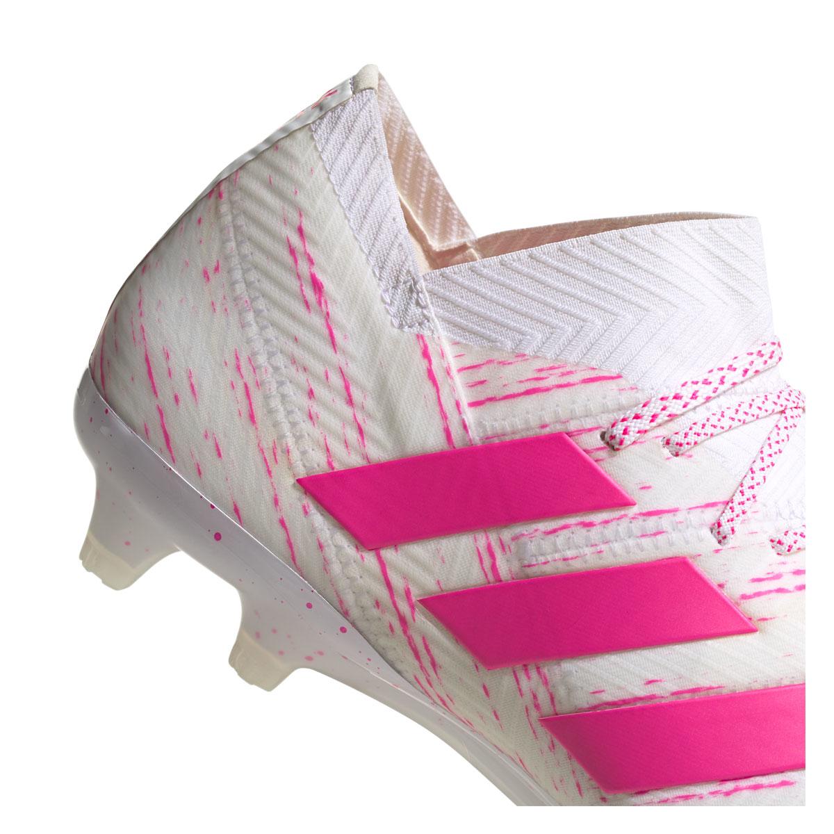 info for new arrival competitive price adidas Fußballschuh Nemeziz 18.1 FG weiß/pink