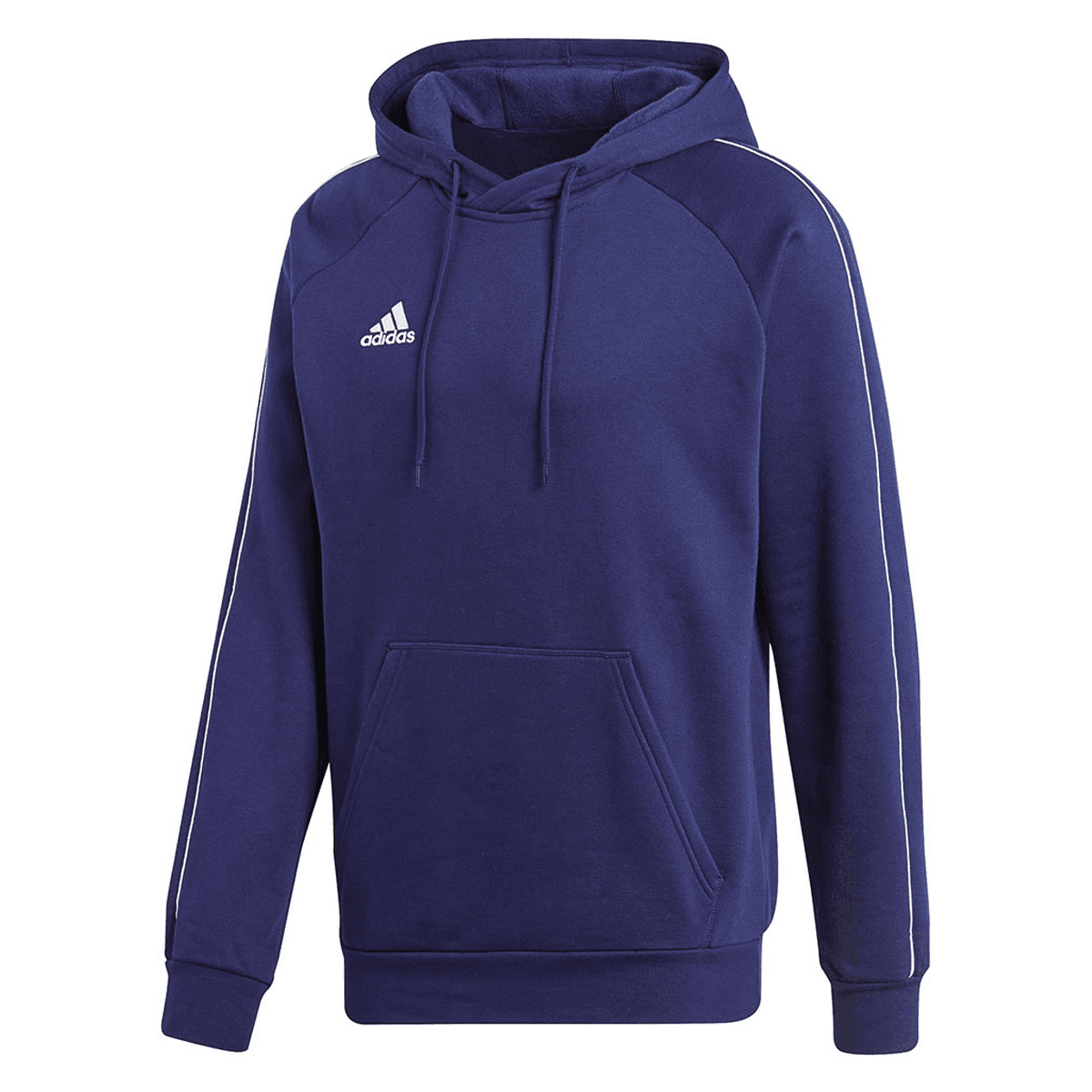 adidas Core 18 Hoody kapucnis pulóver sötétkékfehér Futball áruház