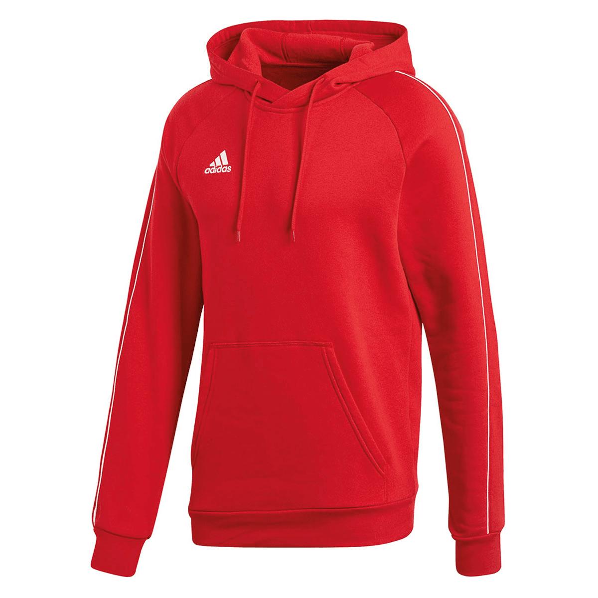 Adidas trui met capuchon Core 18 Hoody rood/wit