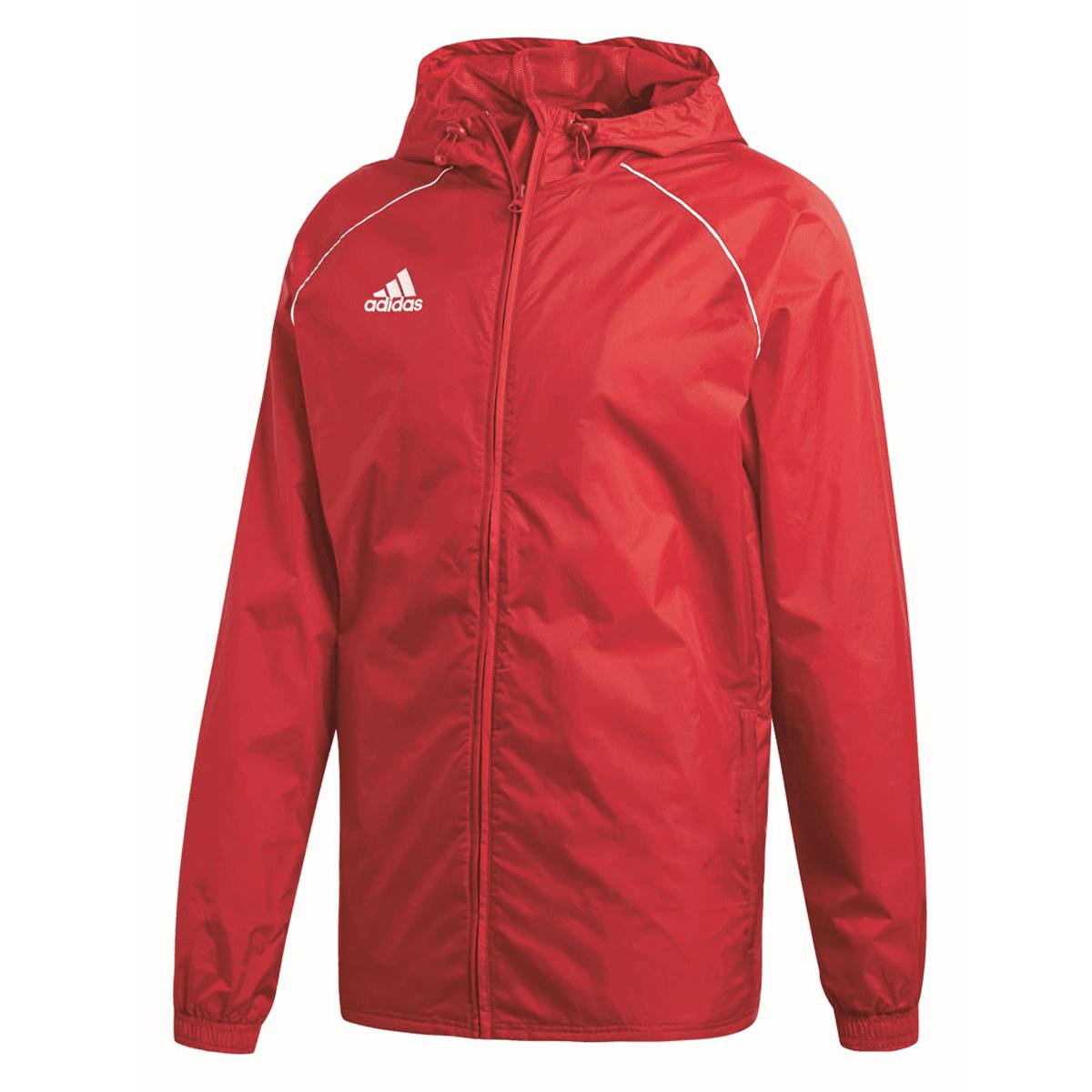 fcf36155303 Adidas regenjas Core 18 rood/wit - Voetbal shop