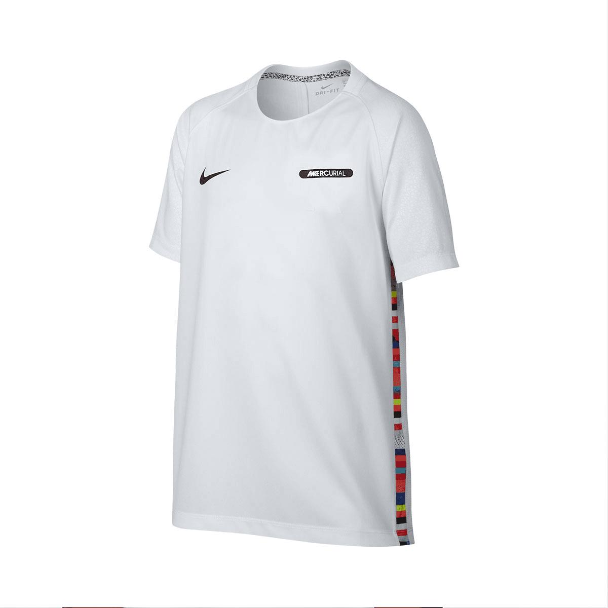 Nike Mercurial CR7 gyerek tréningpóló fehérfekete Futball áruház