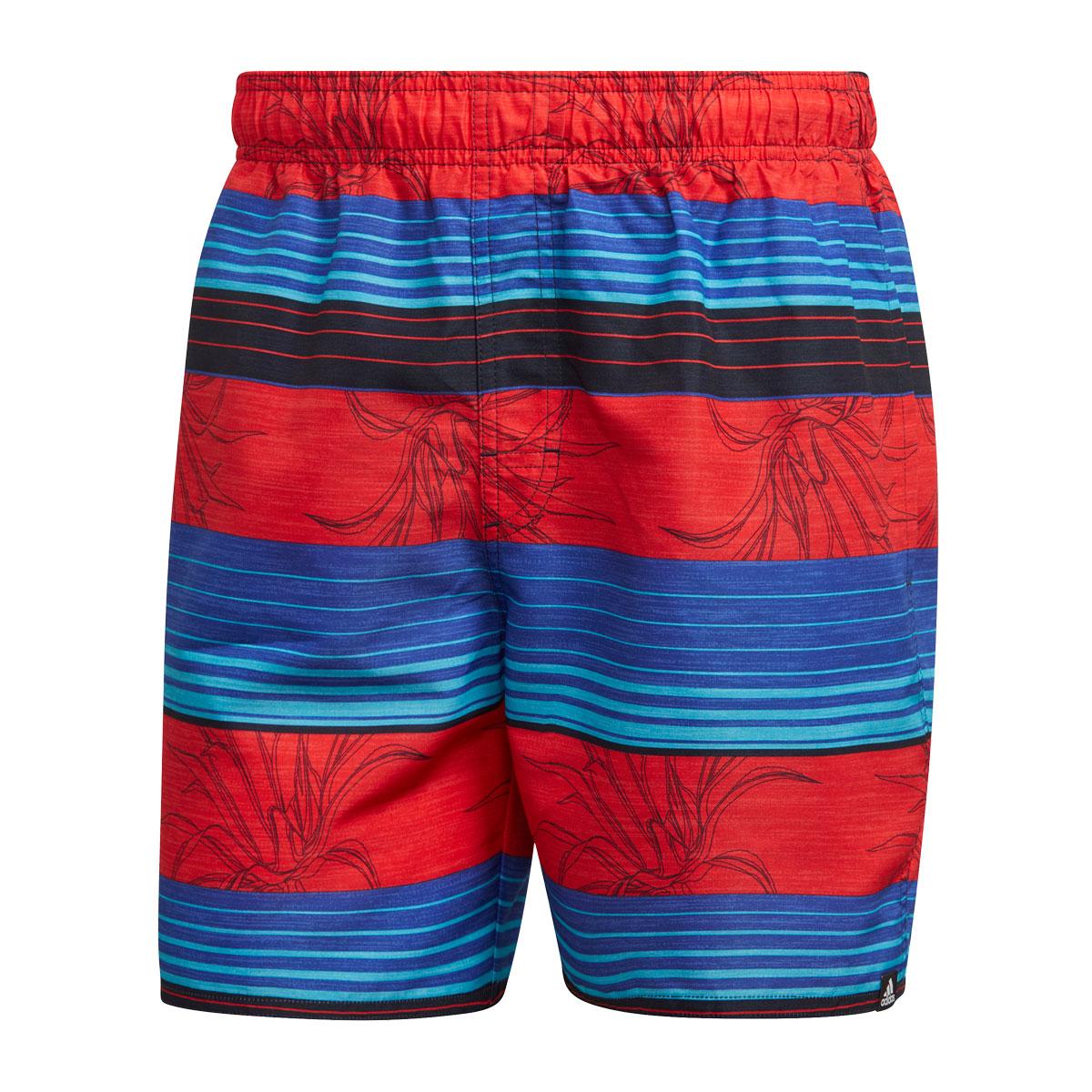 adidas Short Stripe Badehose rot/blau