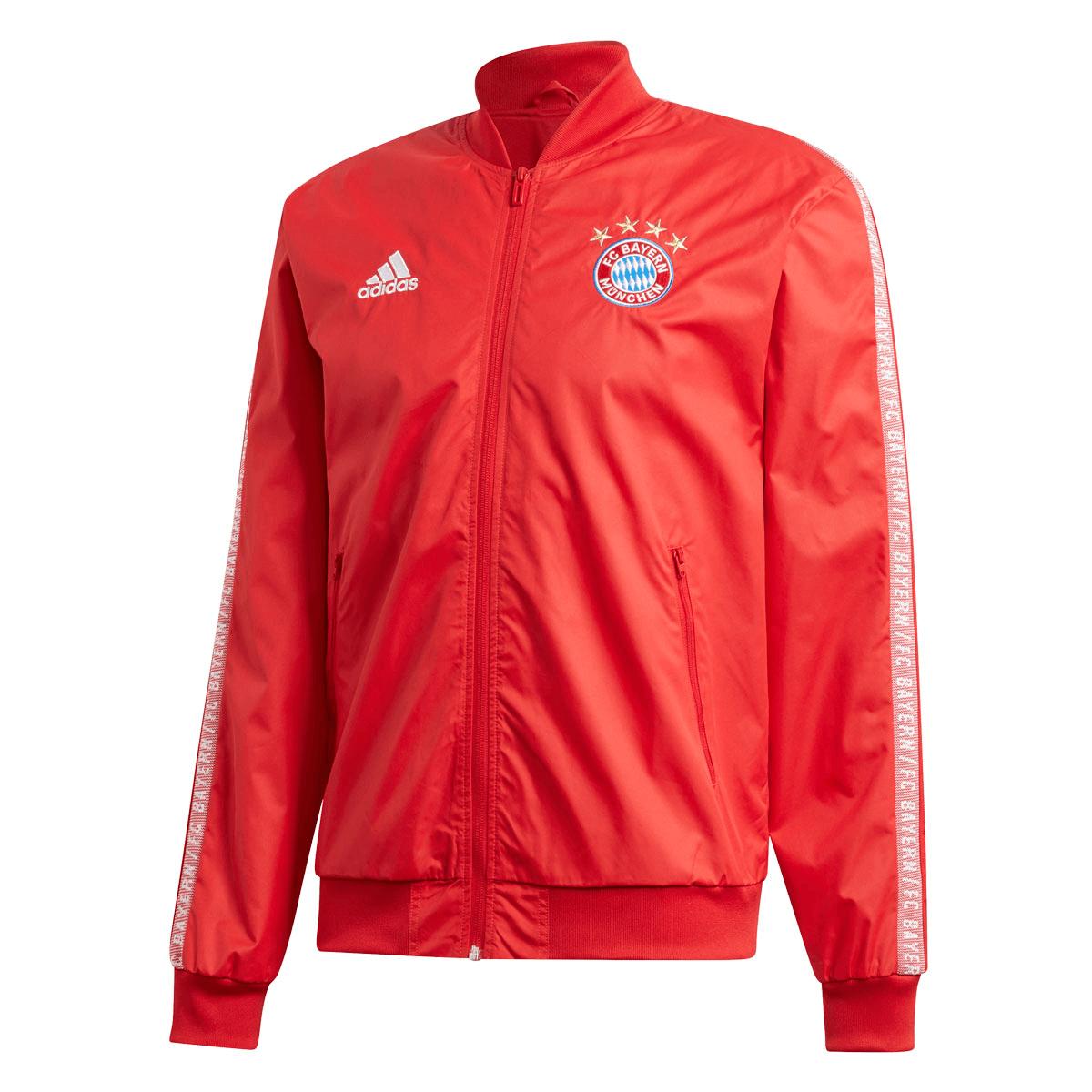 adidas FC Bayern München Fanjacke Anthem rotweiß