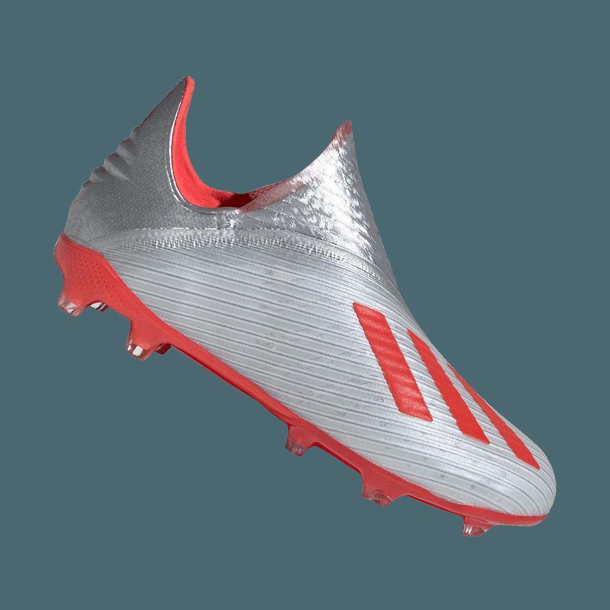 adidas Kinder Fußballschuh X 19+ FG J silberrot