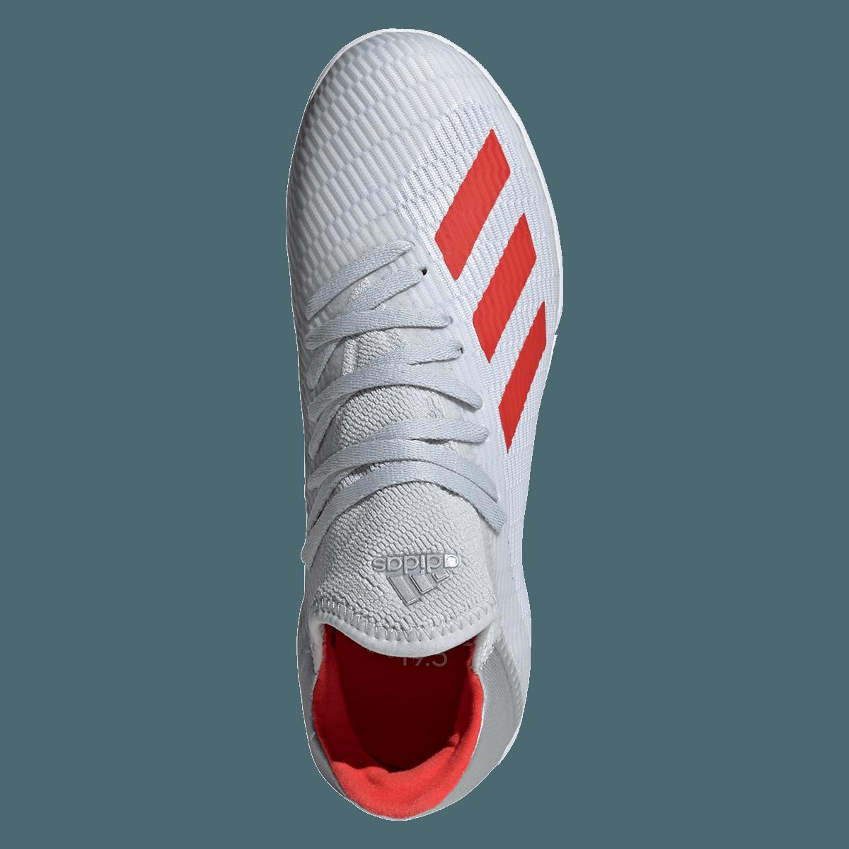 8f0450b1666 Adidas kindeenr indoor schoenen X 19.3 IN J zilver/rood - Voetbal shop