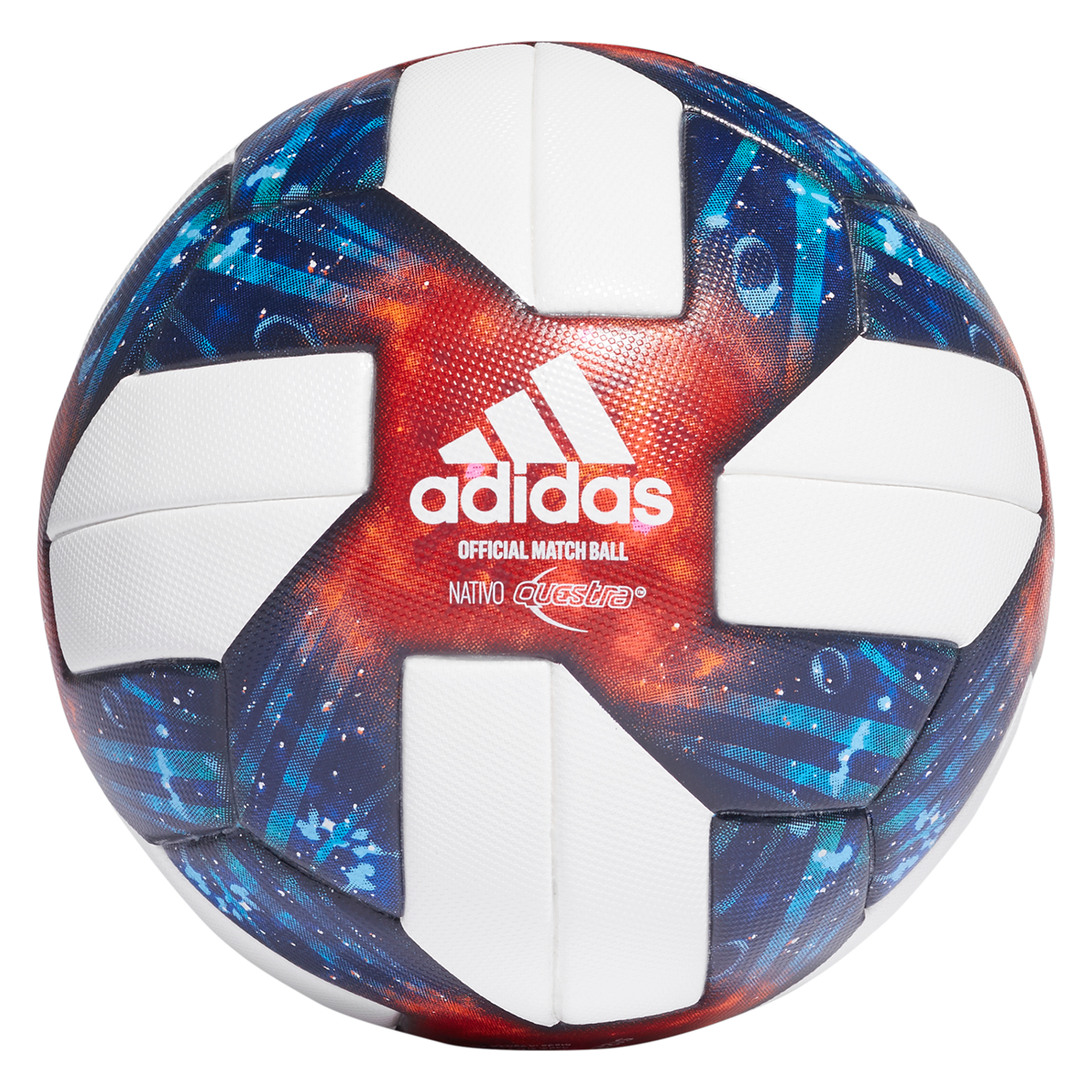 Adidas Fussball Mls Soccer League Omb Grosse 5 Weiss Blau