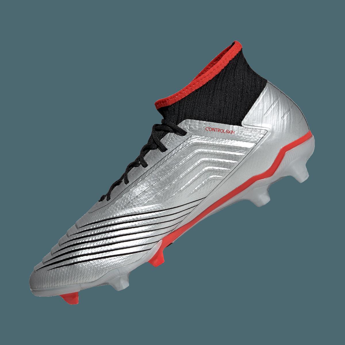 adidas voetbalschoenen Predator 19.2 FG zilverzwart