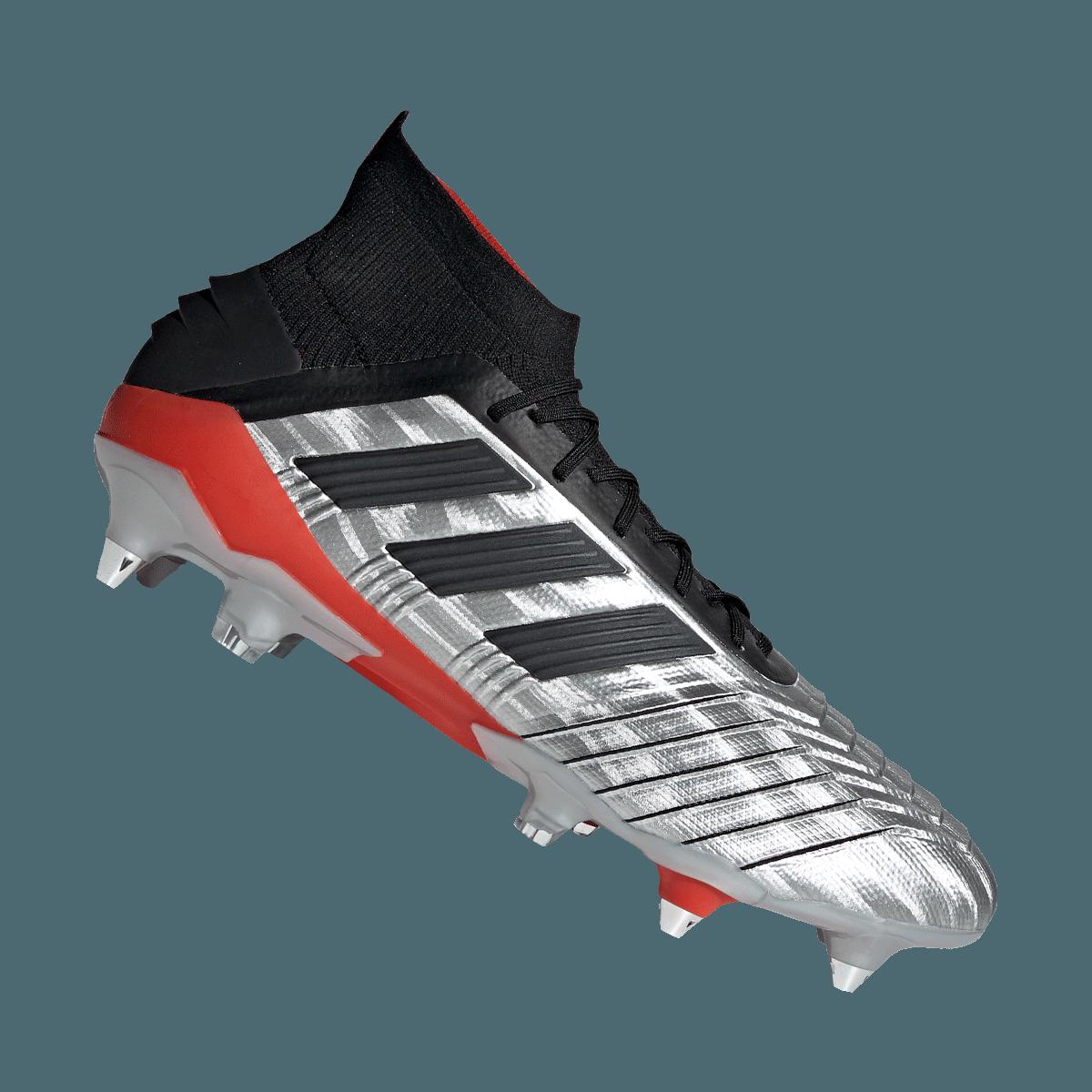 adidas voetbalschoenen Predator SG zilverzwart