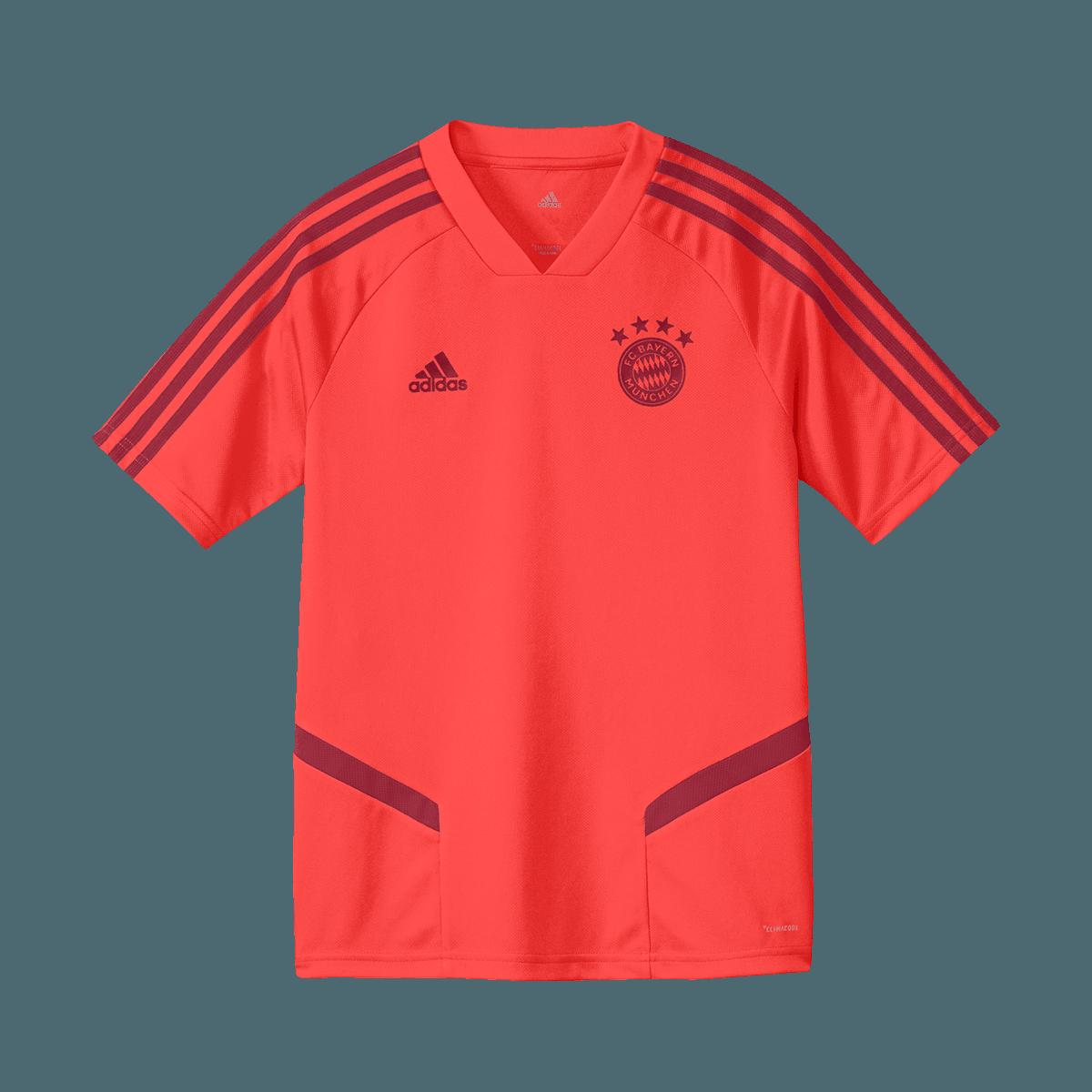 new arrive sale online good texture adidas FC Bayern München Kinder Trainingsshirt rot/dunkelrot - Fussball Shop