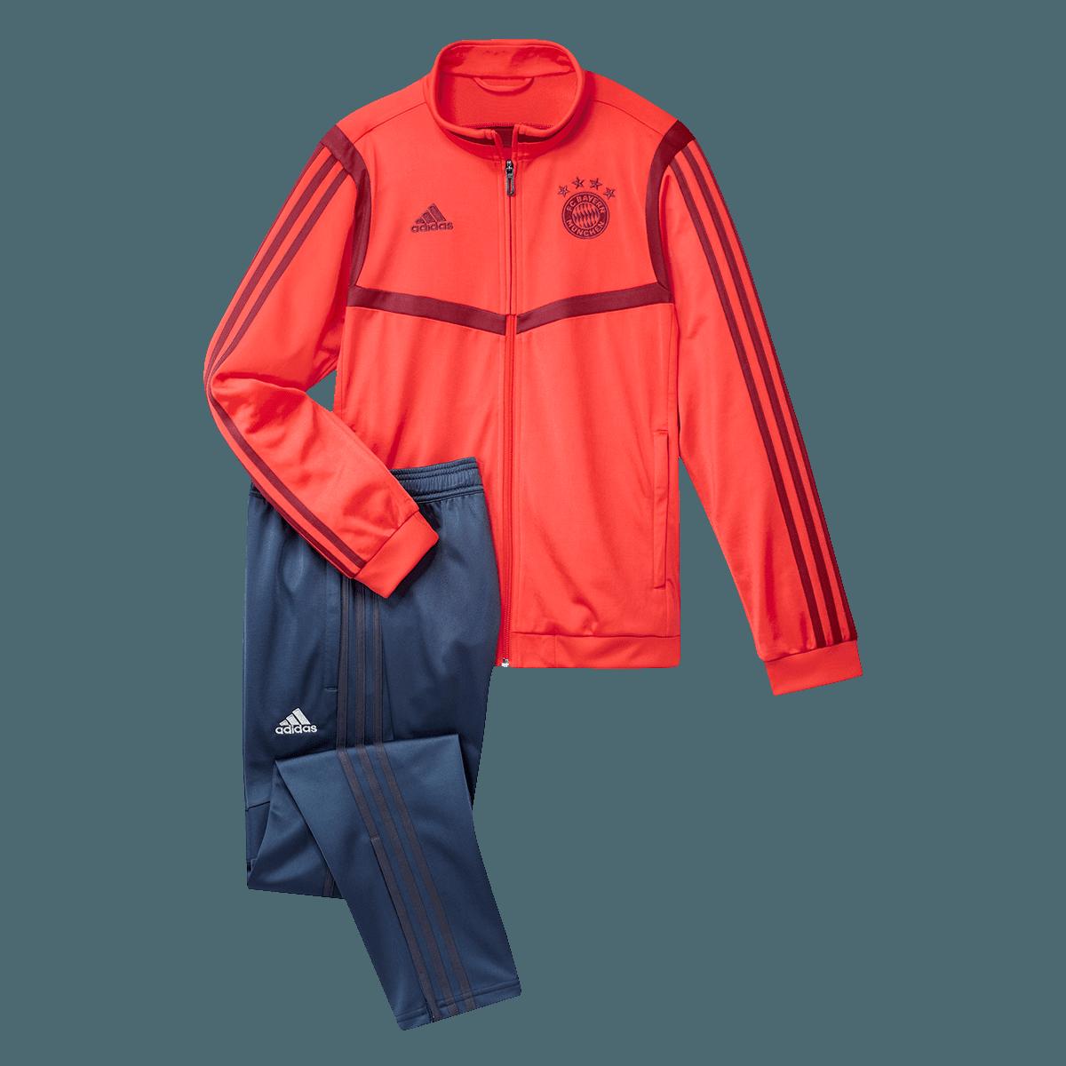 adidas FC Bayern München Kinder Trainingsanzug rotdunkelblau