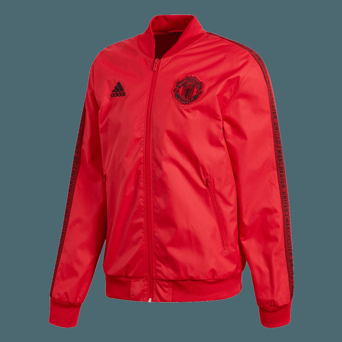 adidas Manchester United Fanjacke Anthem rotschwarz