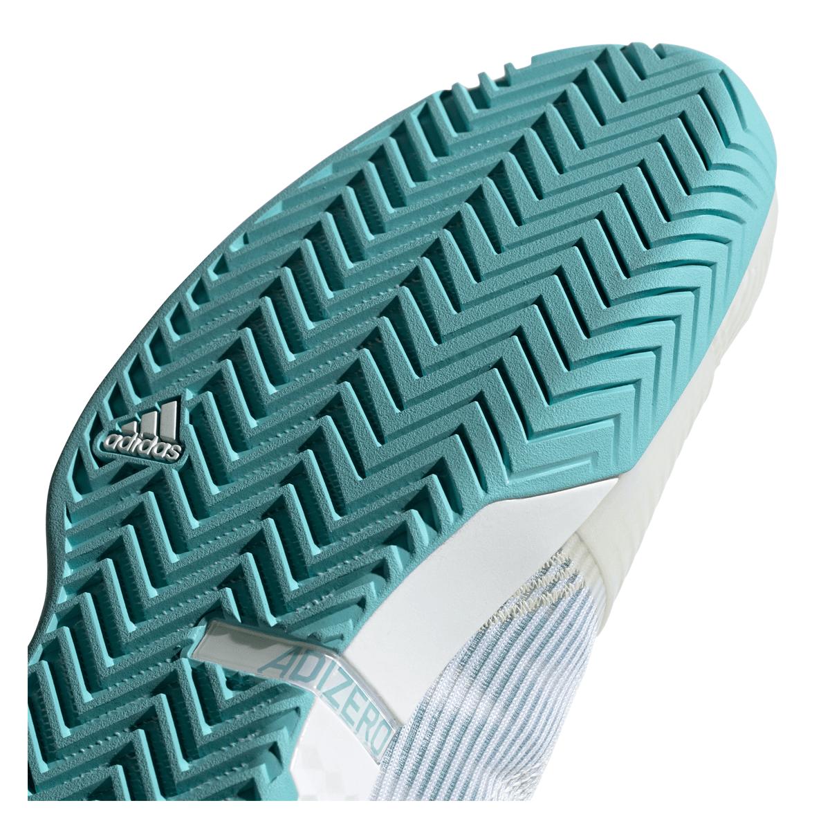 adidas Schuh adizero ubersonic III X Parley weißtürkis