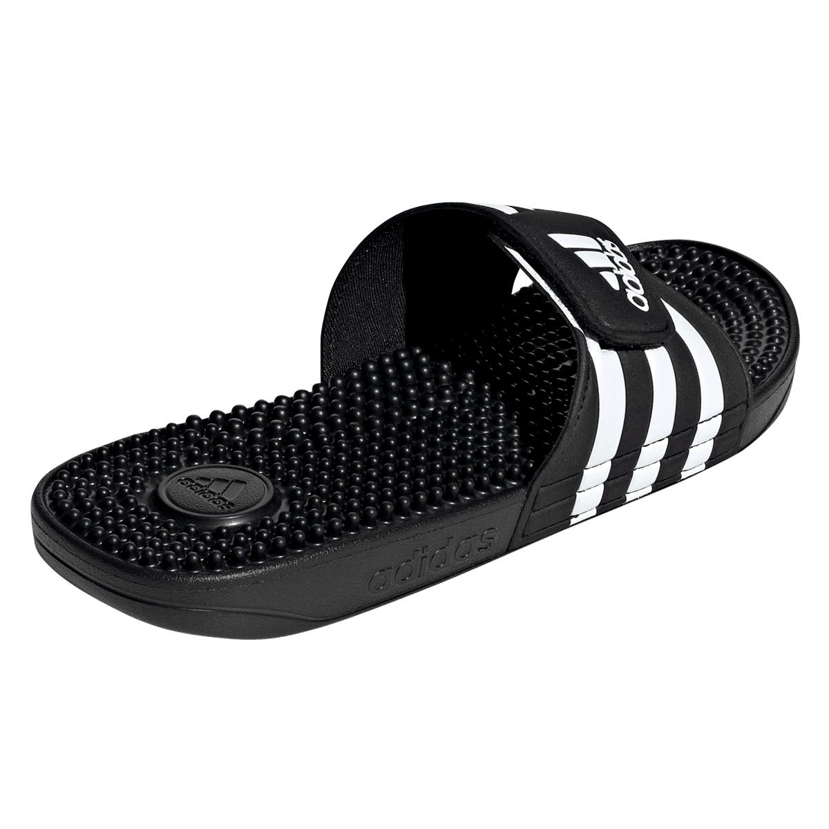 adidas Badesandalen Adissage Slipper schwarzweiß