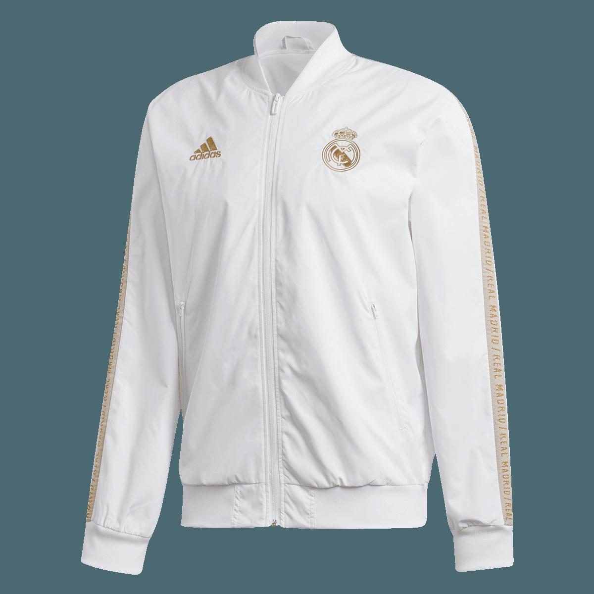 adidas Real Madrid Fanjacke Anthem weißgold