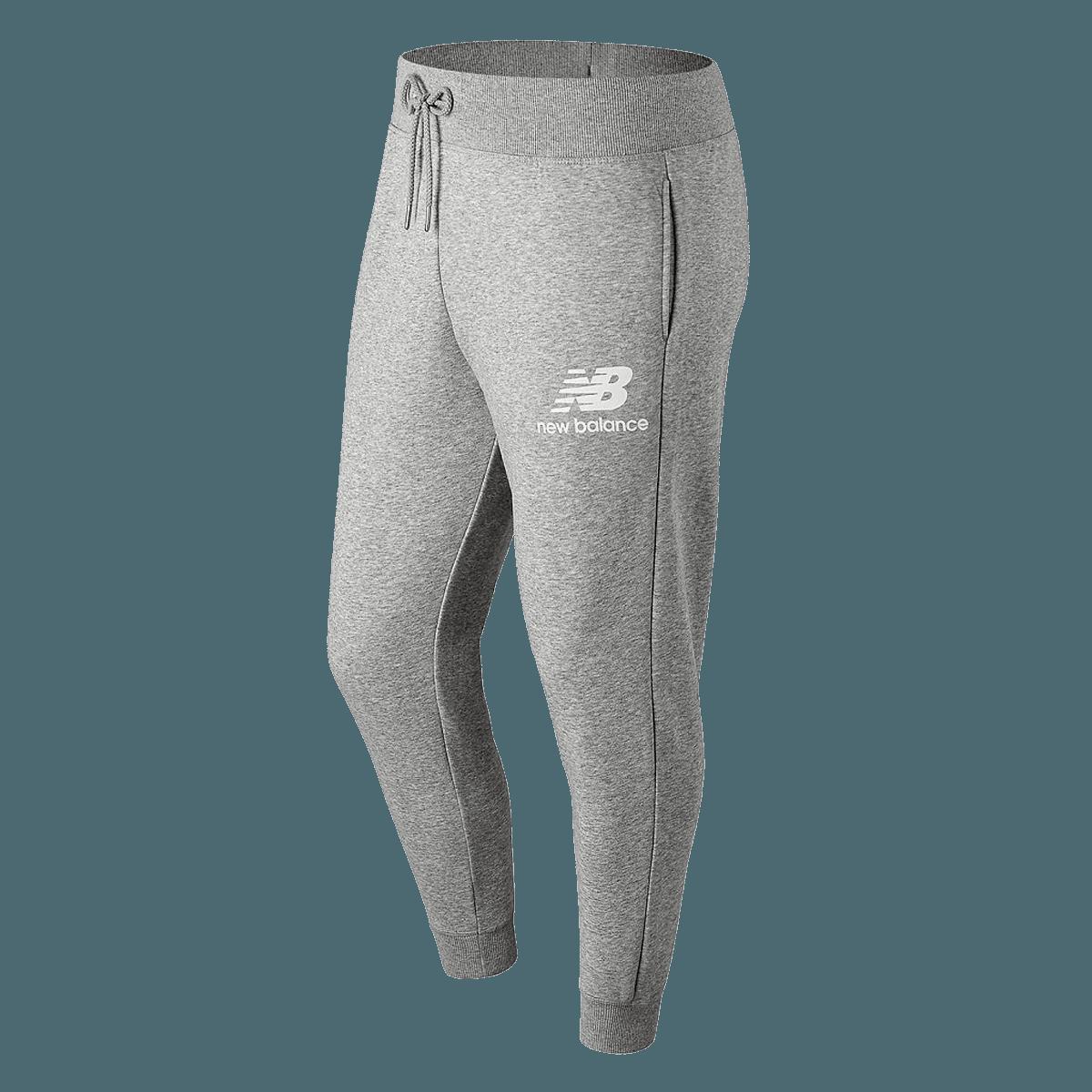 New Balance Jogginghose Essentials Stacked Logo Sweat Pants grauweiß