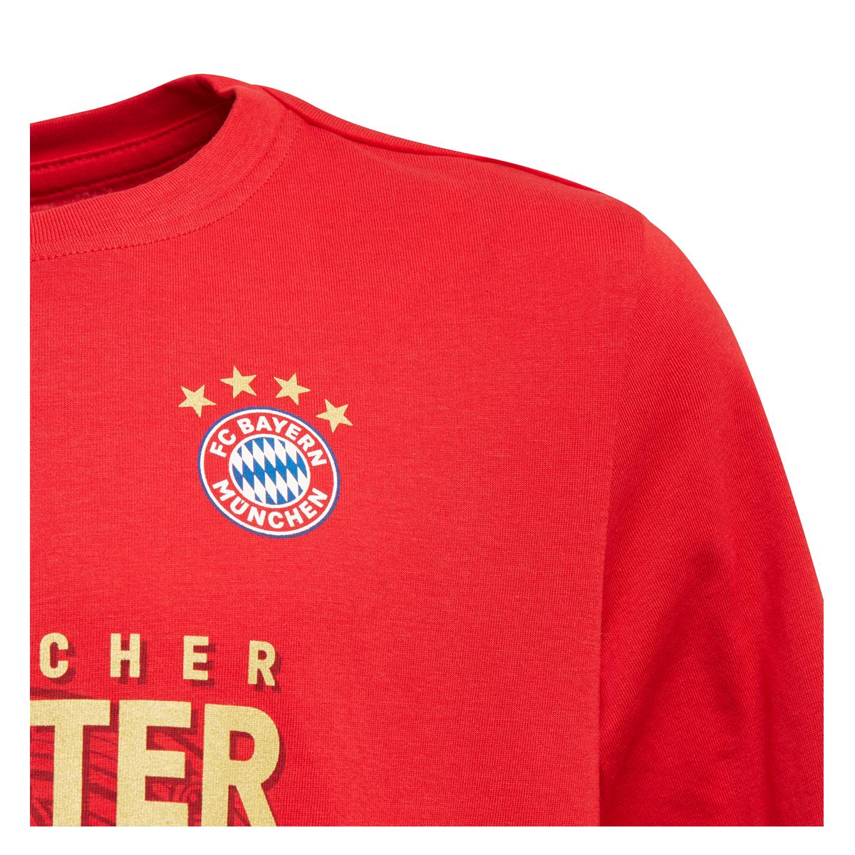 Kinder FC Bayern T-Shirt Logo rot