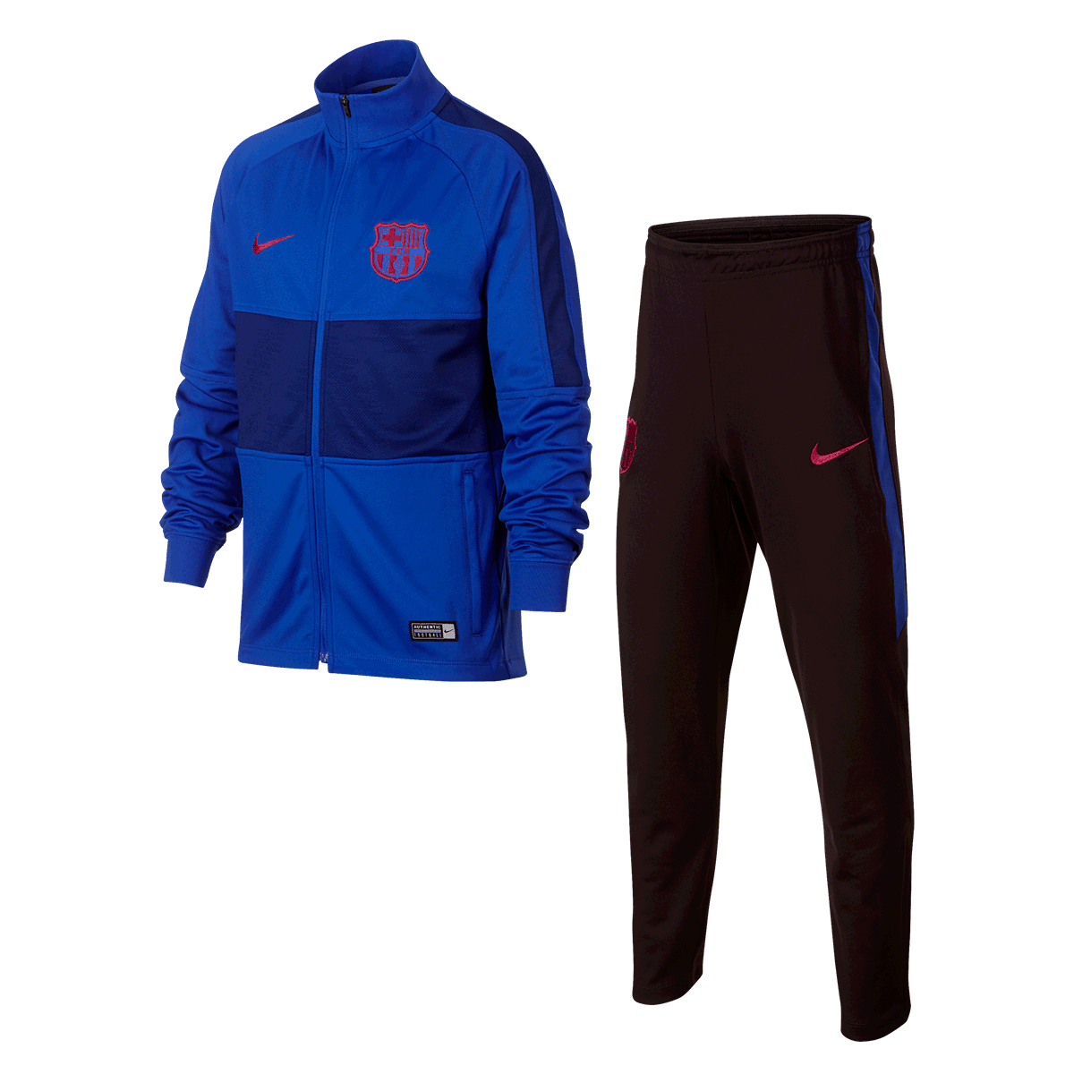 Nike FC Barcelona Kinder Trainingsanzug Strike Track Suit K blaurot