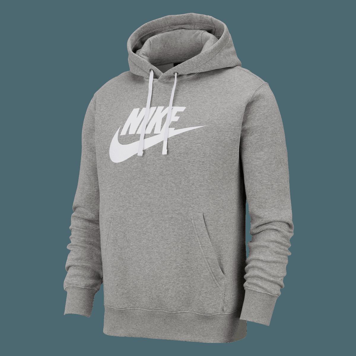 Nike Kapuzenpullover Sportswear Graphic Club BB GX Hoody grauweiß