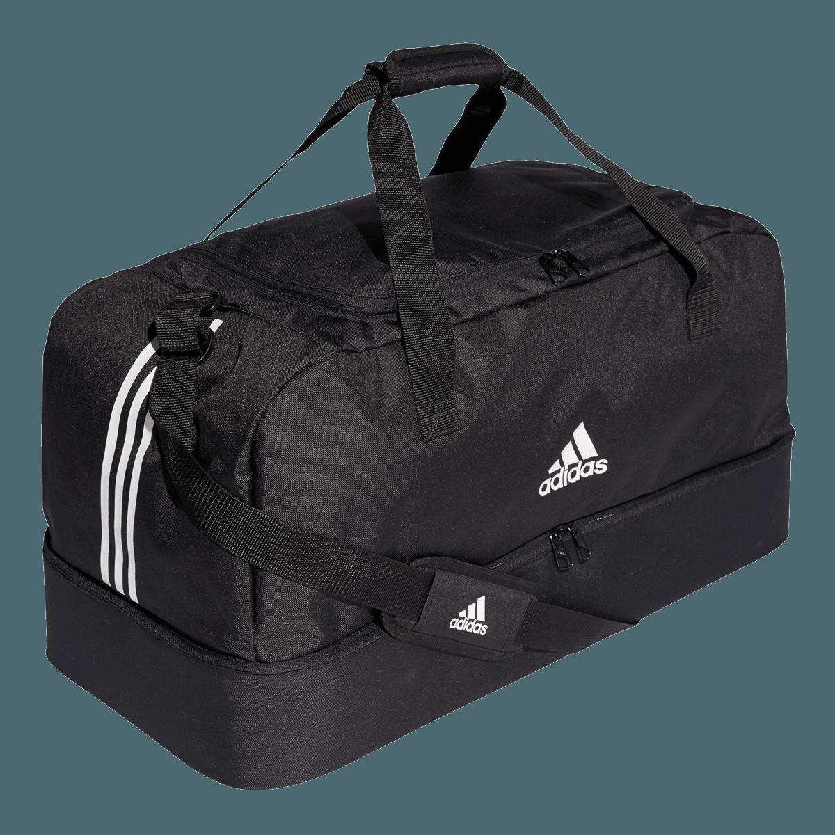 adidas Tiro Duffelbag Bottom Compartment sporttáska L feketefehér Futball áruház