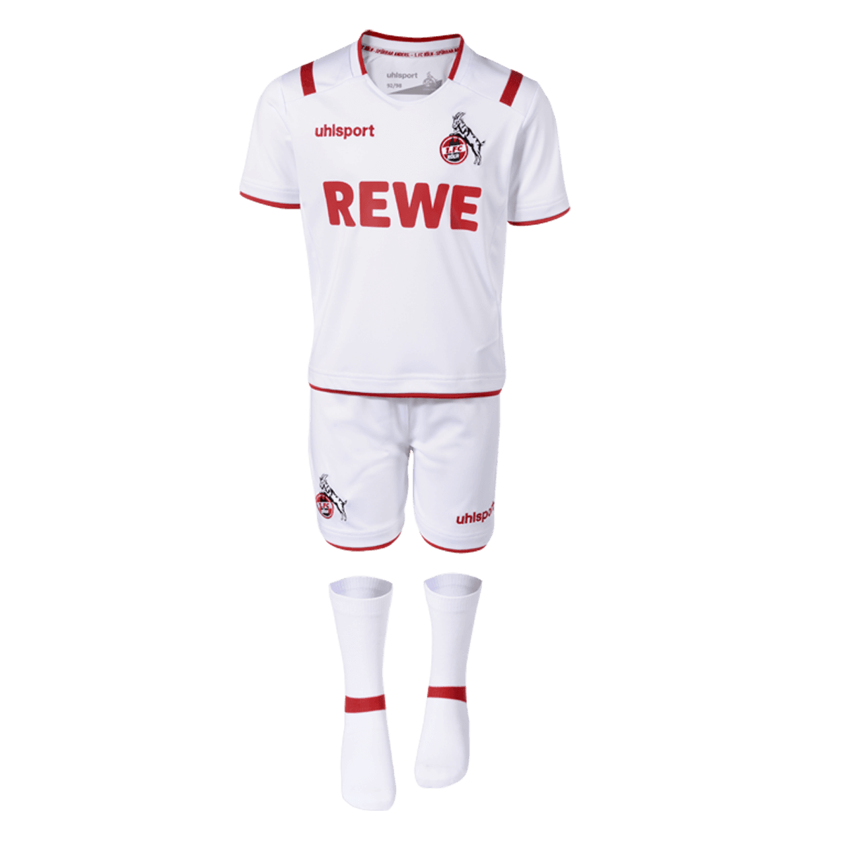 uhlsport 1 FC Köln Mini-Kit 2019//20 Kinder Trikotset weiß 1003516011948