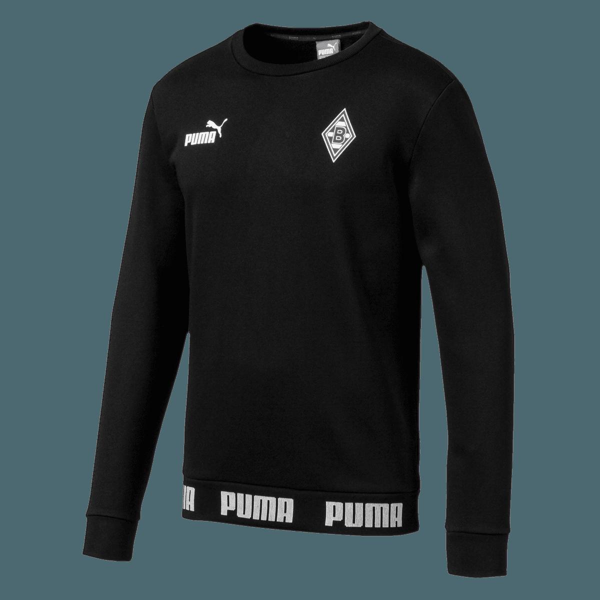 puma borussia monchengladbach pullover ftbl culture sweater schwarz weiss