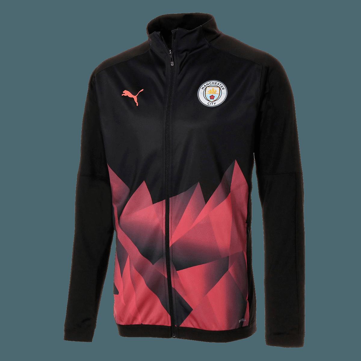 Puma Manchester City Aufwärmjacke International Stadium Jacket schwarzrot
