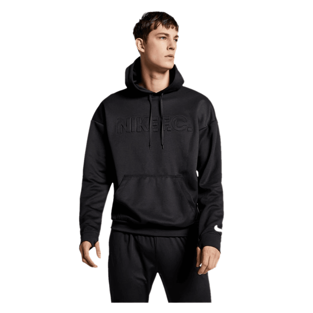 Nike Kapuzenpullover F.C. Football Hoody schwarzweiß