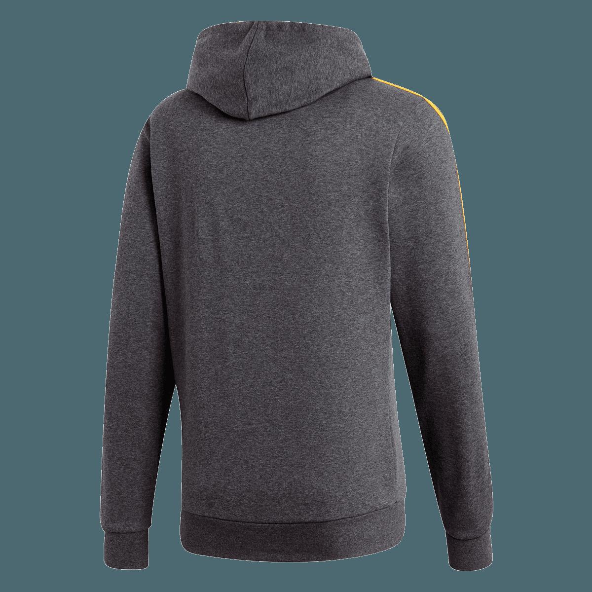 adidas Kapuzenpullover Essential 3S Fleece dunkelgraugelb