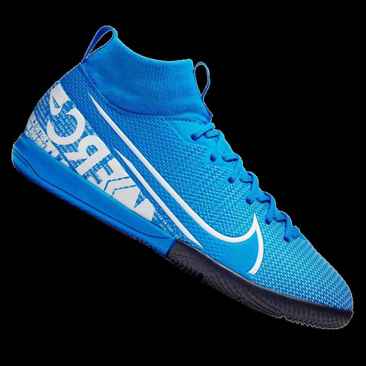 Nike Kinder Hallenschuh Mercurial Superfly Vii Jr Academy Ic Hellblau Weiss