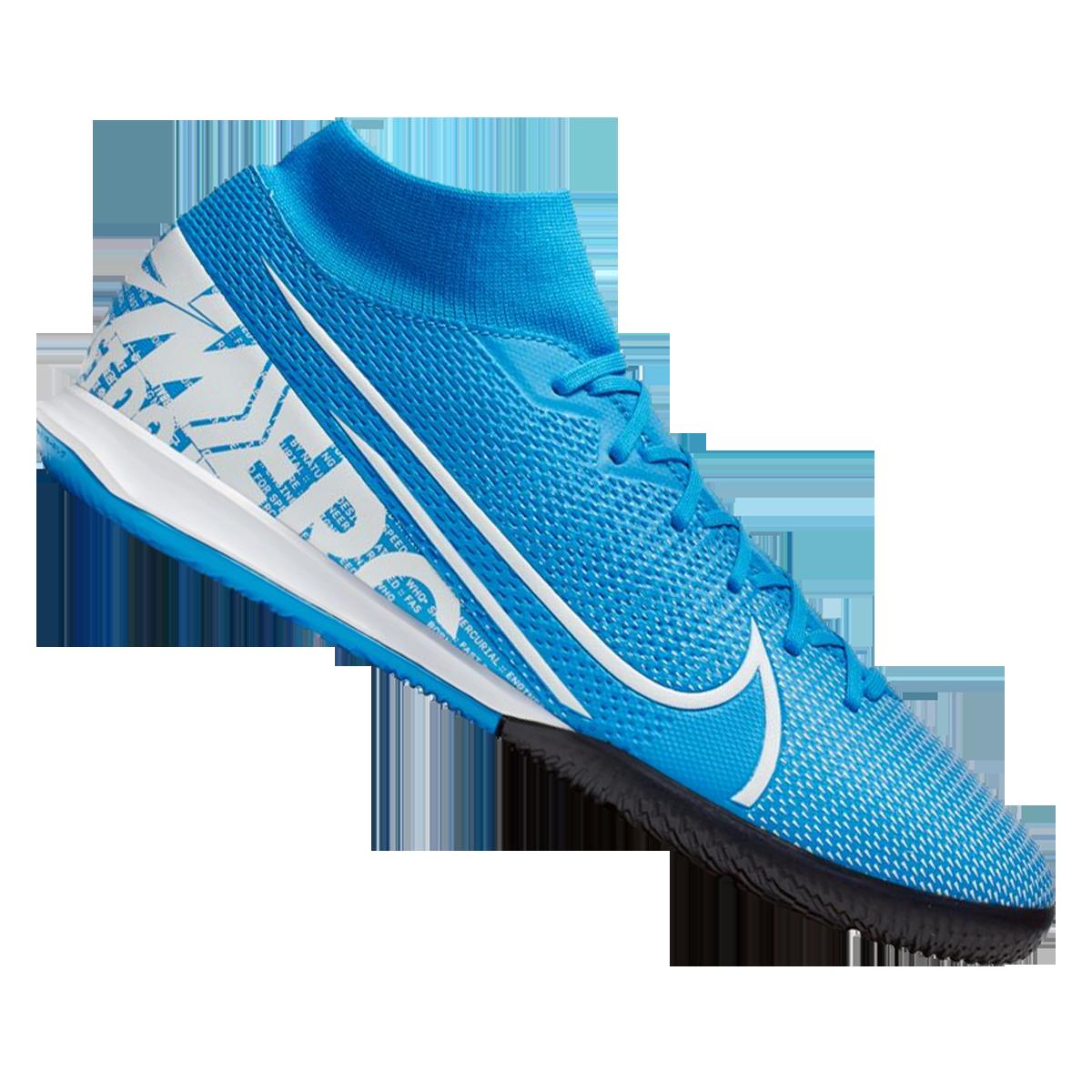 Nike Hallenschuh Mercurial Superfly VII Academy IC hellblauweiß