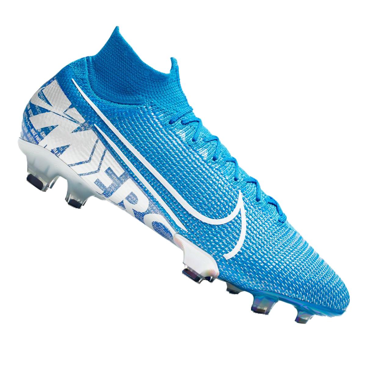 Nike Fußballschuh Mercurial Superfly VII Elite FG hellblauweiß