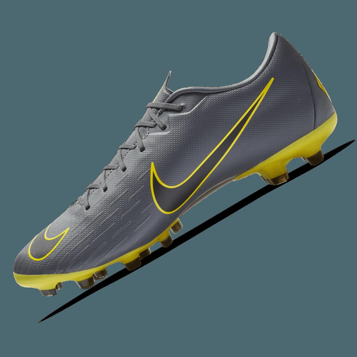 Nike voetbalschoen Mercurial Vapor XII JR Academy FGMG donkergrijsgeel