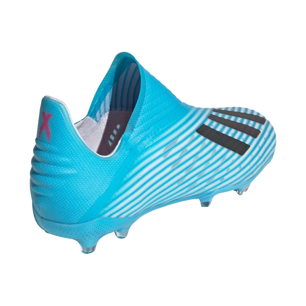 adidas Kinder Fußballschuh X 19+ FG J hellblauweiß