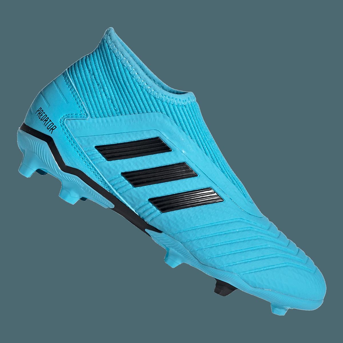 adidas voetbalschoenen kinderen Predator 19.3 LL FG J lichtblauwzwart