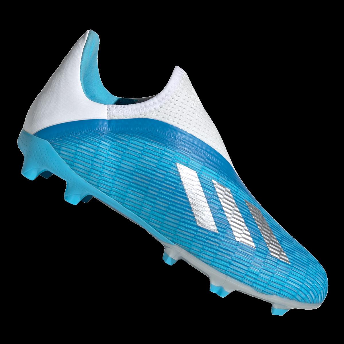 adidas voetbalschoenen voor kinderen X 19.3 LL FG J lichtblauwwit