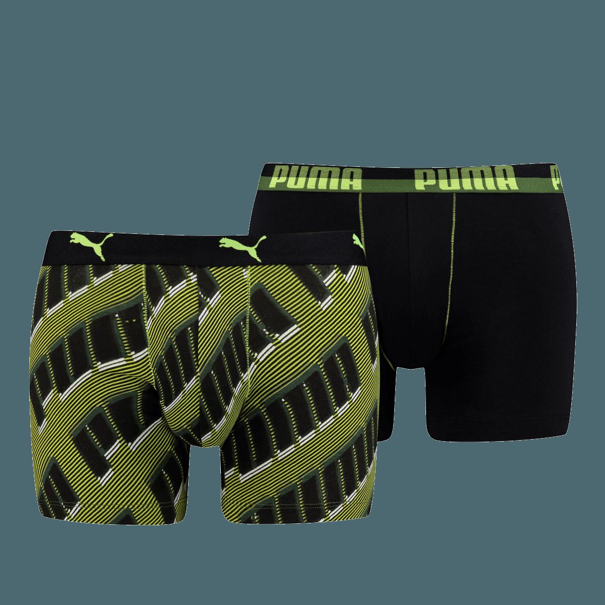 d232215f6da0c0 Puma Basic Boxer 2er Pack AOP WOR grün fluo/schwarz