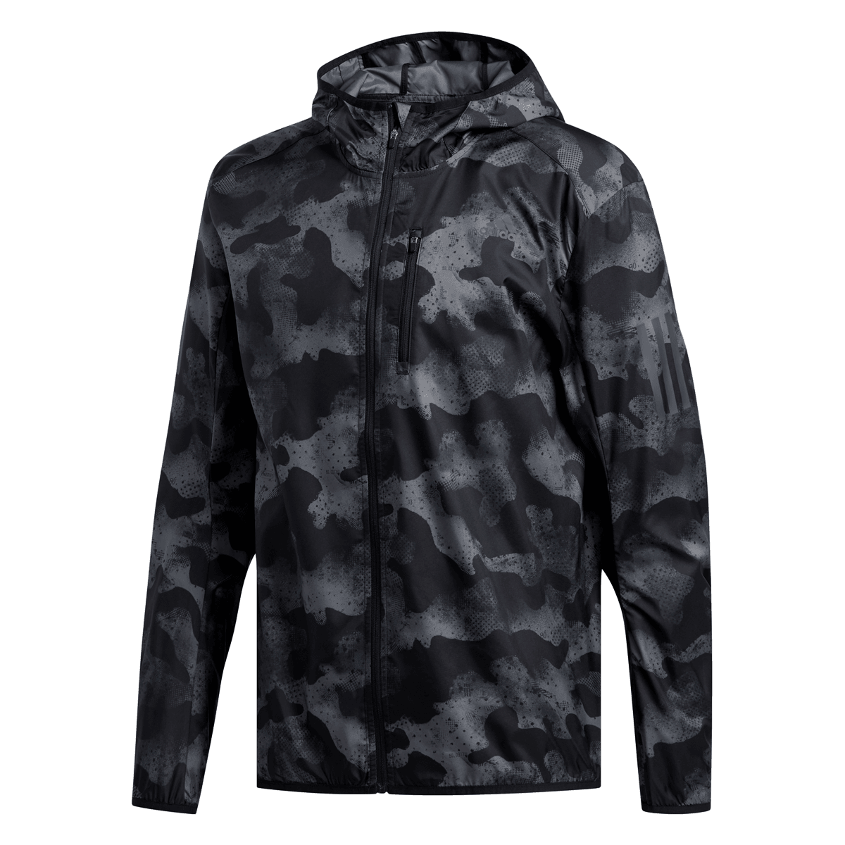adidas Own the Run Camo Jacke Herren grauschwarz