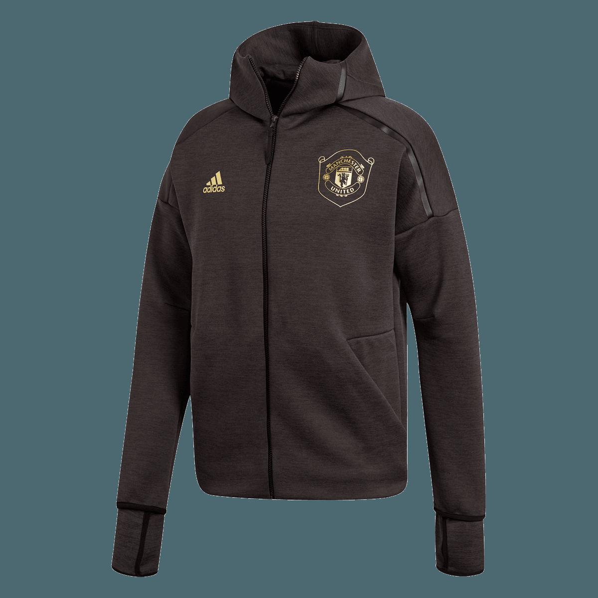 adidas Manchester United capuchonjack Z.N.E. Hoody 3.0 zwartgeel