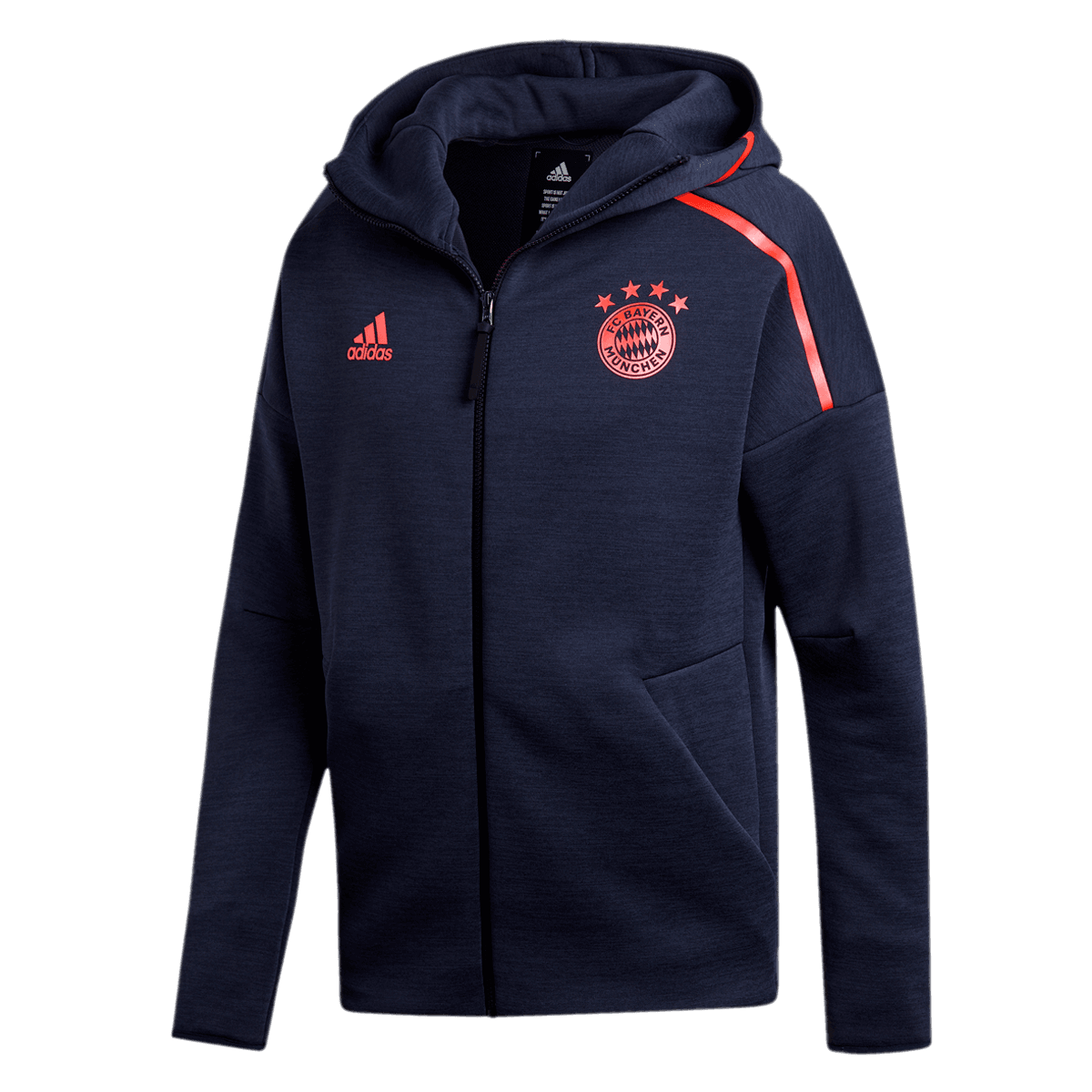 adidas FC Bayern München Kapuzenjacke Z.N.E Hoody 3.0 dunkelblaurot