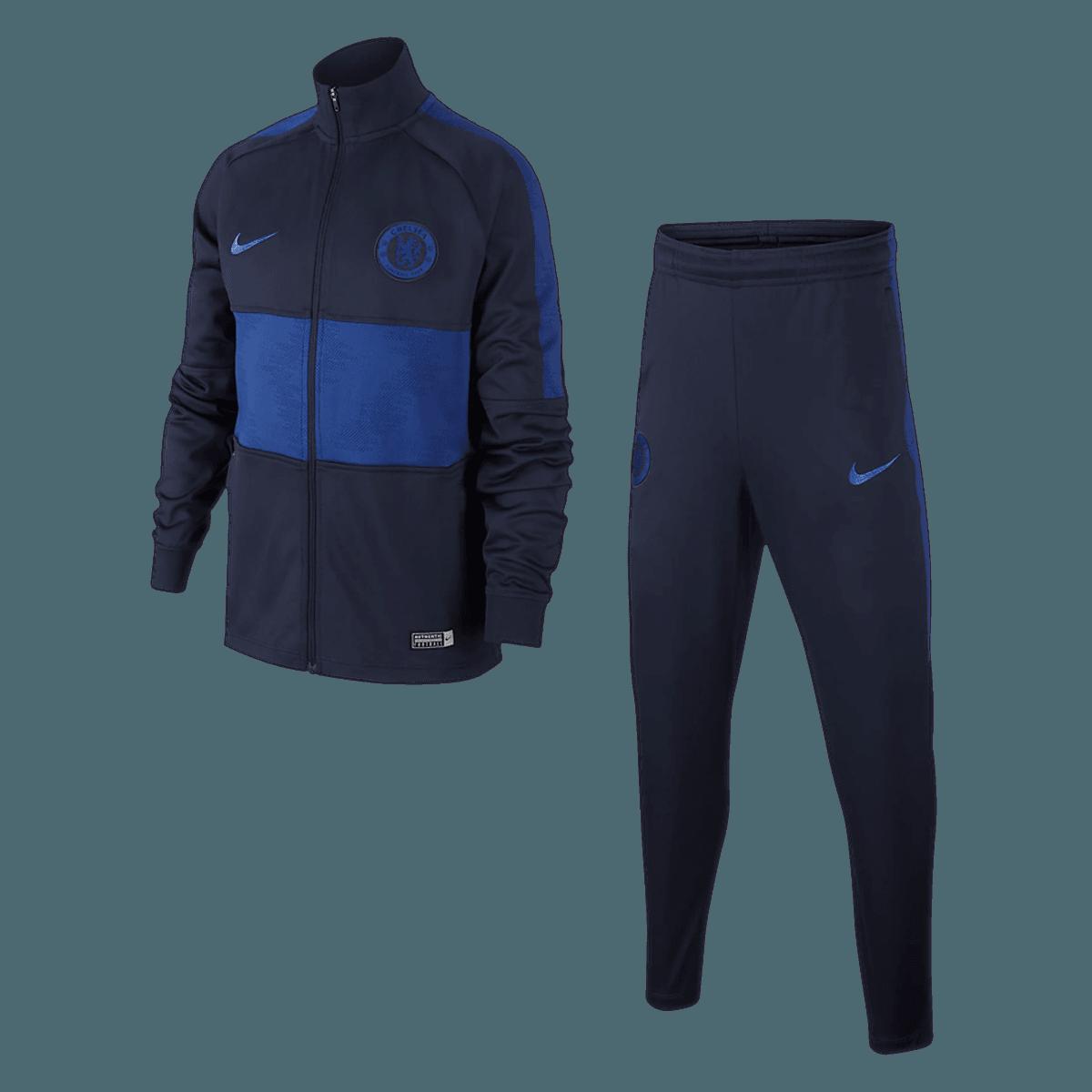 Nike Chelsea FC Kinder Trainingsanzug blauweiß