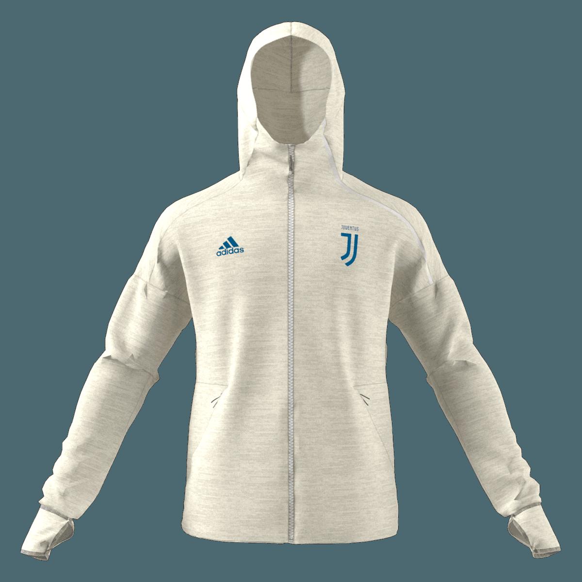 adidas Juventus Turin Kapuzenjacke Z.N.E Hoody 3.0 beige