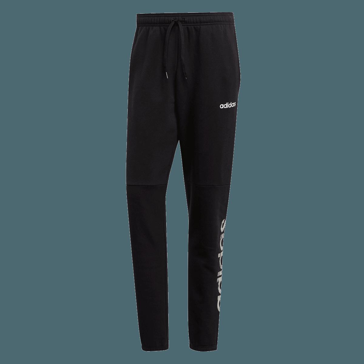adidas vrijetijdsbroek Essential Comm Linear Fleece Pant zwartwit