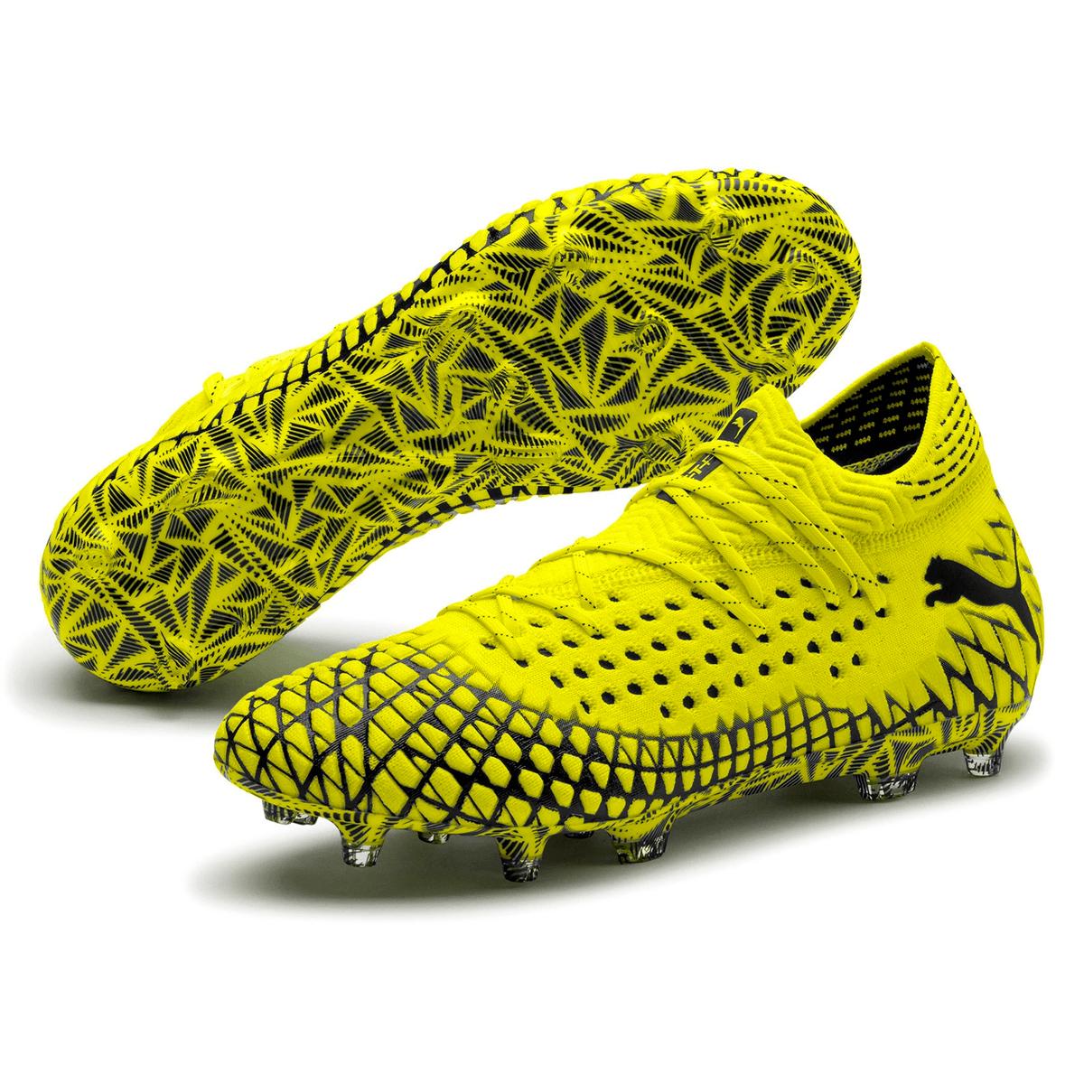 Puma voetbalschoenen Future 4.1 Netfit FG/AG geel fluo/zwart