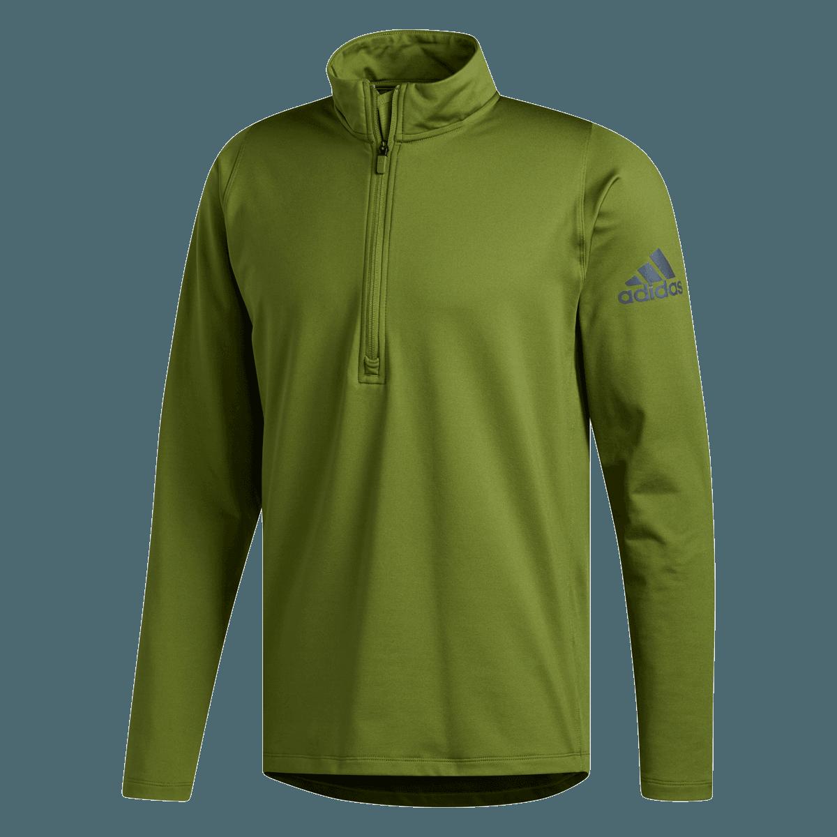 adidas Sweatshirt FreeLift Camo Climawarm 12 Zip Fleece Tee grünschwarz