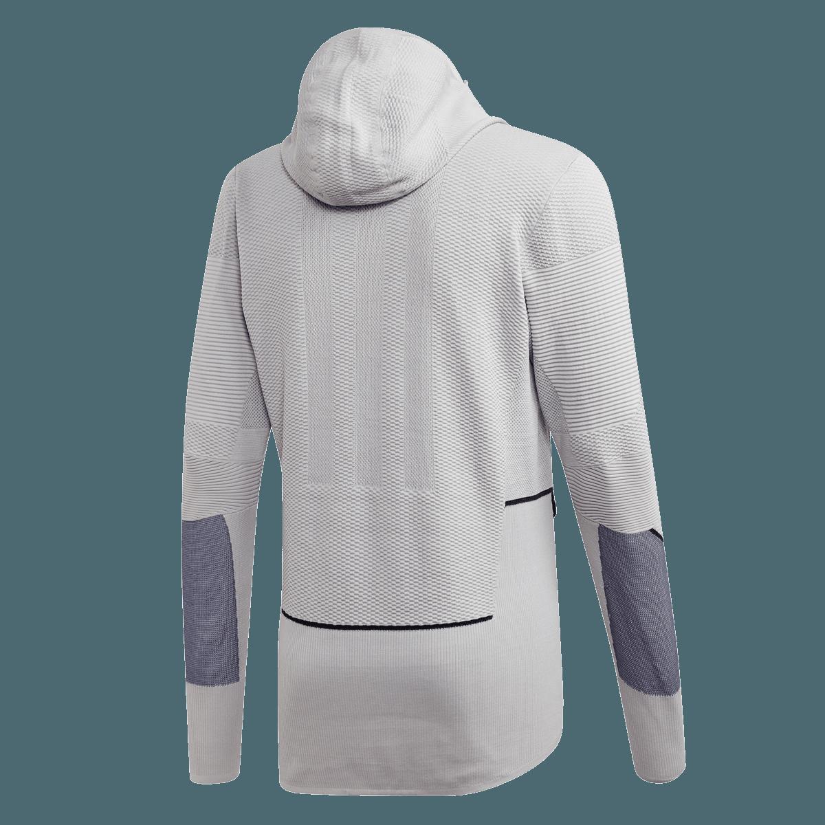 adidas Kapuzenjacke Primeknit Midlayer Jacket hellgrauschwarz
