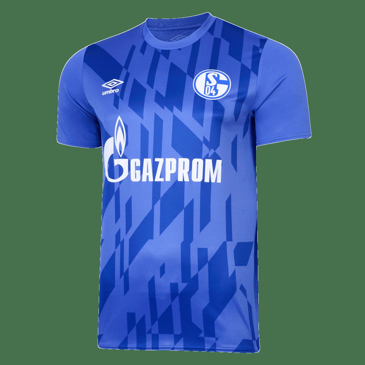 Umbro FC Schalke 04 Aufwärmtrikot Warm Up blau