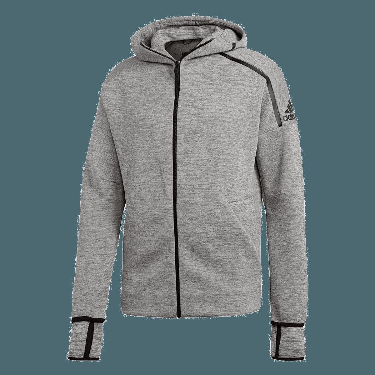 adidas Kapuzenjacke Z.N.E. Hoody Fast Release Zipper grauschwarz