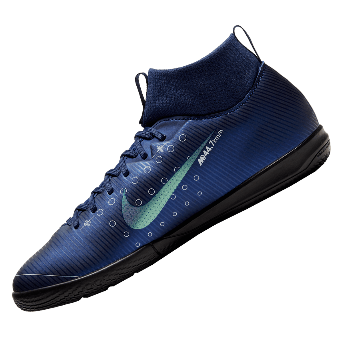Nike Kinder Hallenschuh Mercurial Superfly VII JR Academy IC hellblauweiß